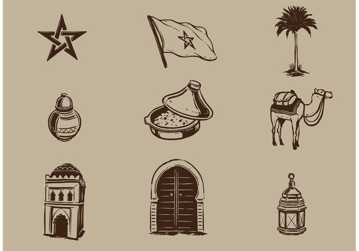 Éléments vectoriels libres de Maroc vecteur