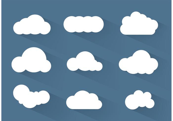 Simpe des vecteurs de nuages vecteur