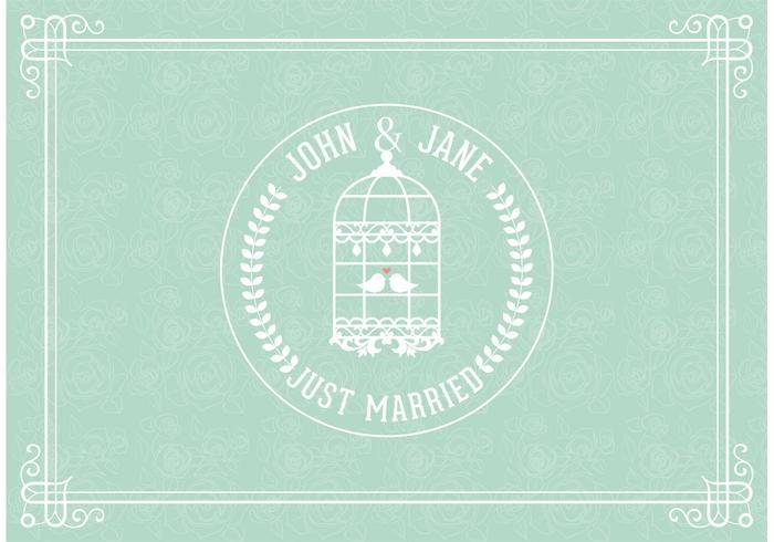 Carte vectorielle Just Married libre vecteur