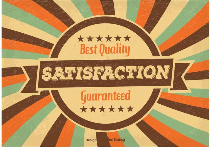 Satisfaction garantie Illustration vecteur