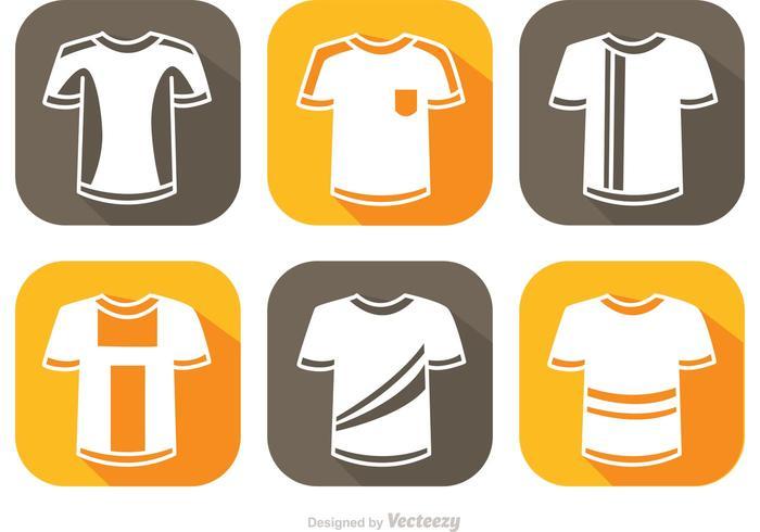 Maillot de football White Icons Vector