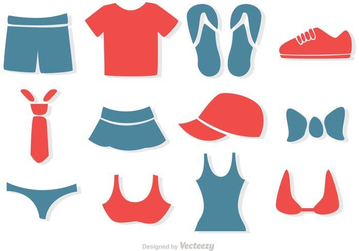 Ensemble de vecteurs de vêtements simples vecteur