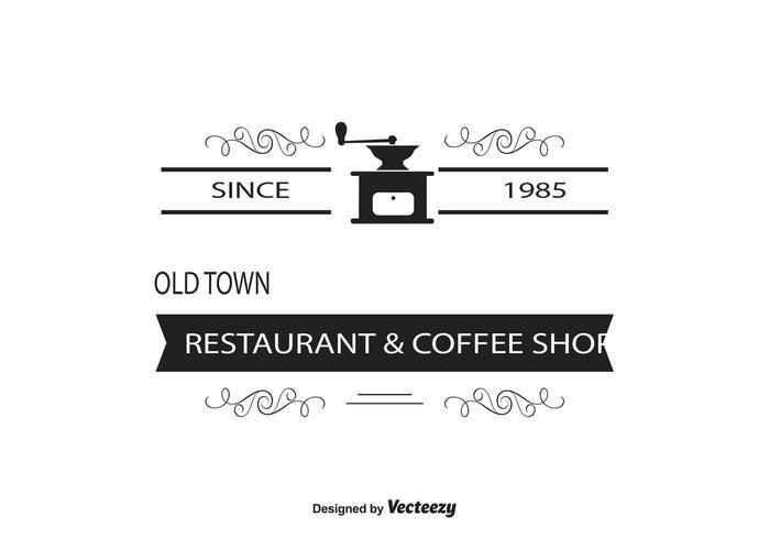 Logo du café / modèle d'insigne vecteur