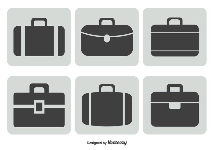 Ensemble d'icônes pour porte-documents vecteur