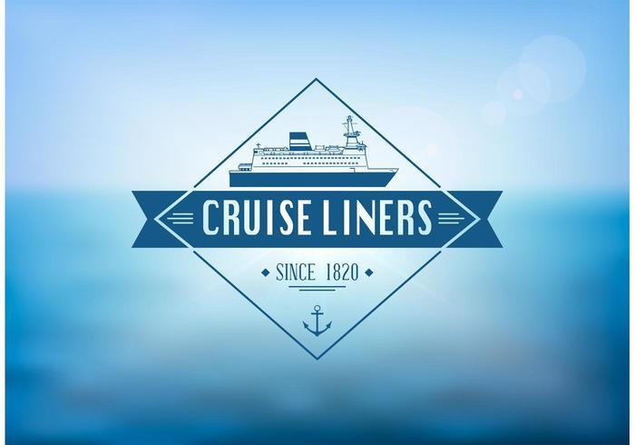 Vecteur gratuit d'étiquettes Cruise Liner