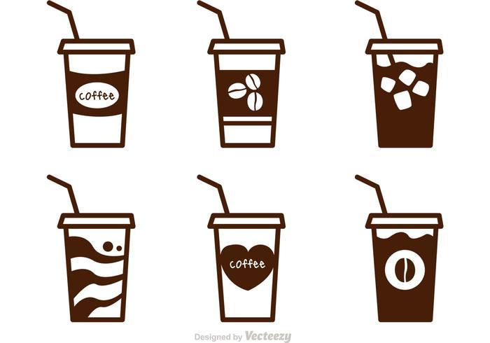 Vecteurs de café glacé vecteur