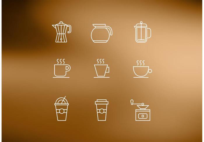Icônes de vecteur de café gratuit