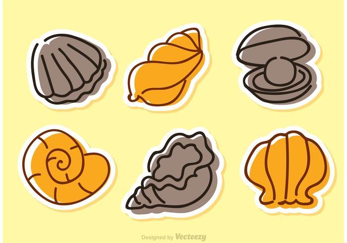 Icônes de vecteur de Shell de mer