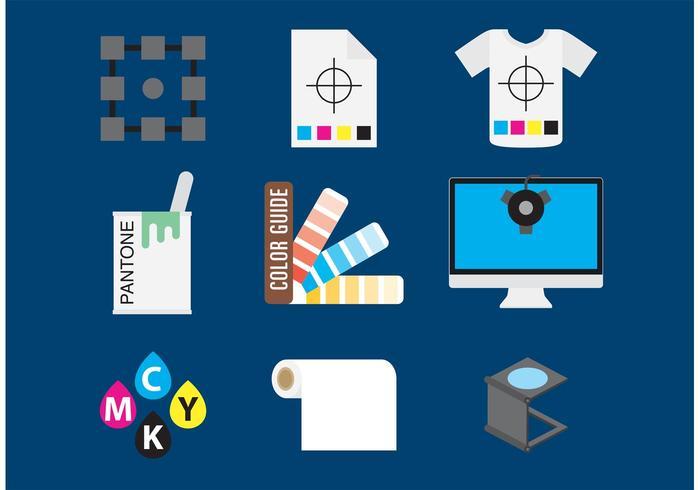 Impression d'icônes vectorielles vecteur