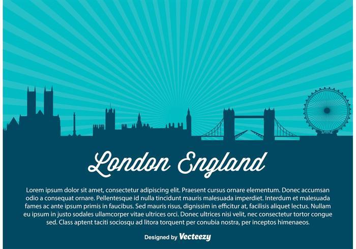 Illustration de l'horizon de la ville de Londres vecteur
