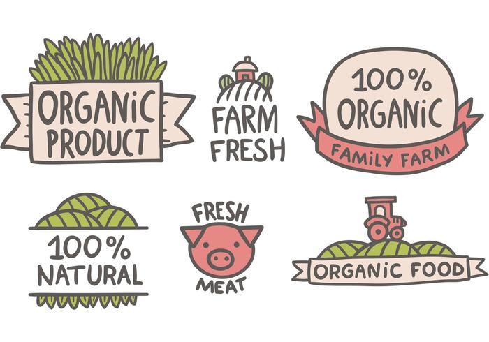 Vecteurs de marché gratuits des agriculteurs vecteur