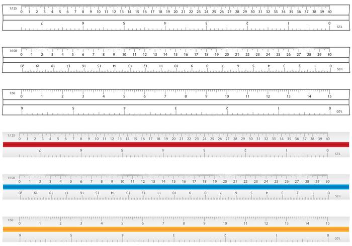 Architecture et dessin de vecteurs de règle vecteur
