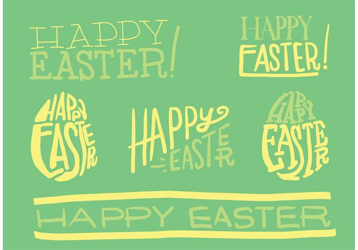 Hand Drawn Easter Vector Typography