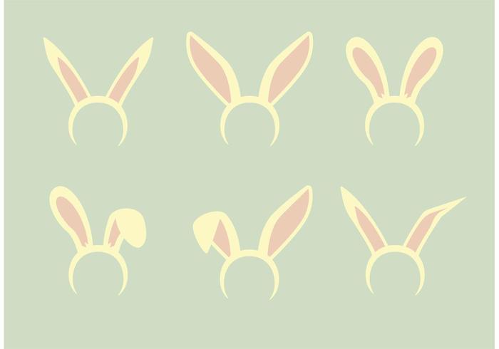 Ensemble de vecteur d'oreilles de lapin