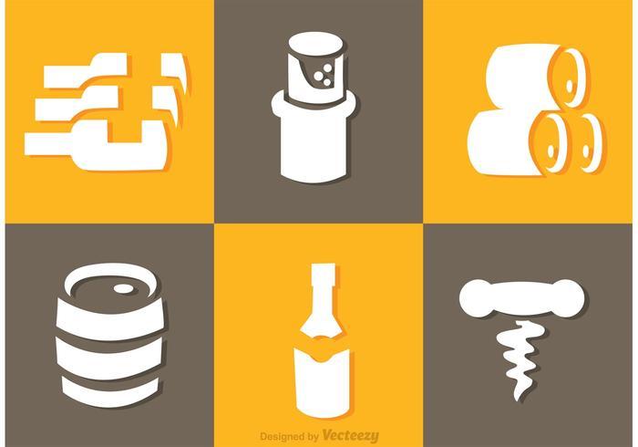 Vecteur d'icônes de Whisky blanc
