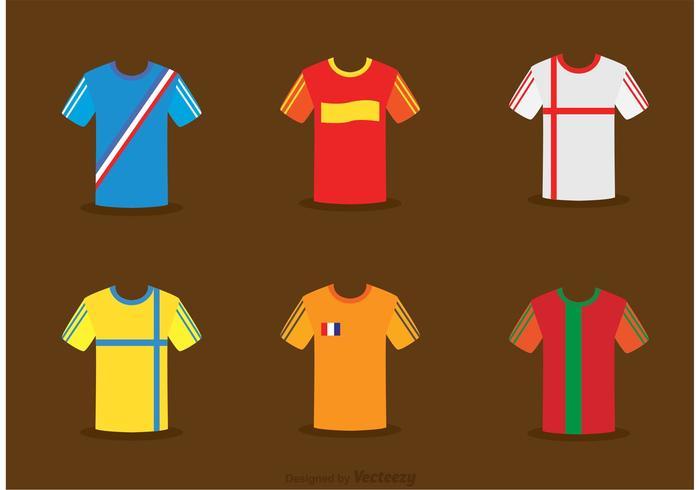 Collection de vecteur Jersey de football
