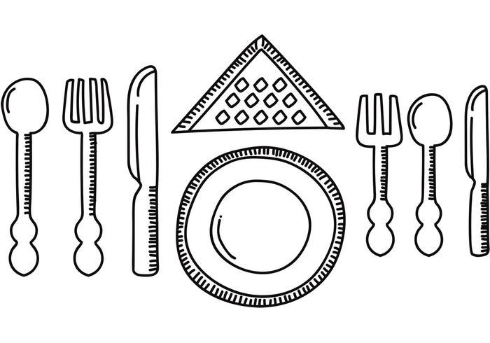 Ensemble de dîner Set Vector
