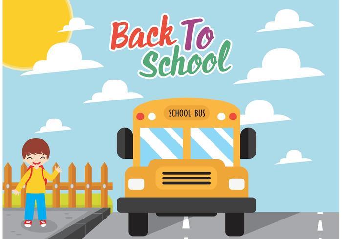 Conception vectorielle gratuite d'autobus scolaire vecteur