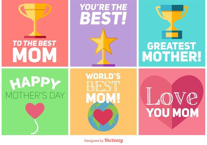 Bonne conception des cartes de la fête des mères vecteur
