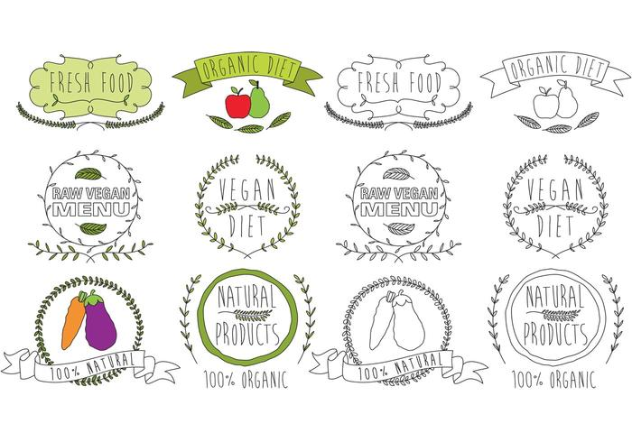 Vecteurs Logo Alimentaire Naturel vecteur