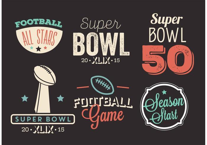 Ensemble de vecteur Super Bowl