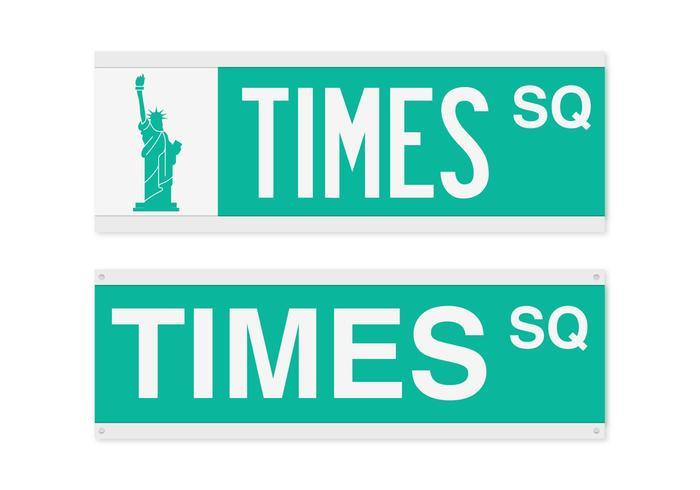 Vecteur de signe de rue carré de temps libre