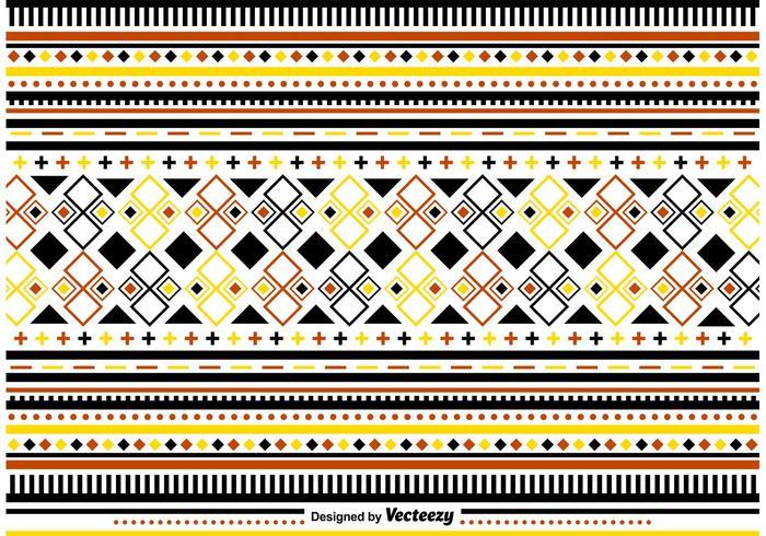 Ornements stylés de motifs populaires vecteur