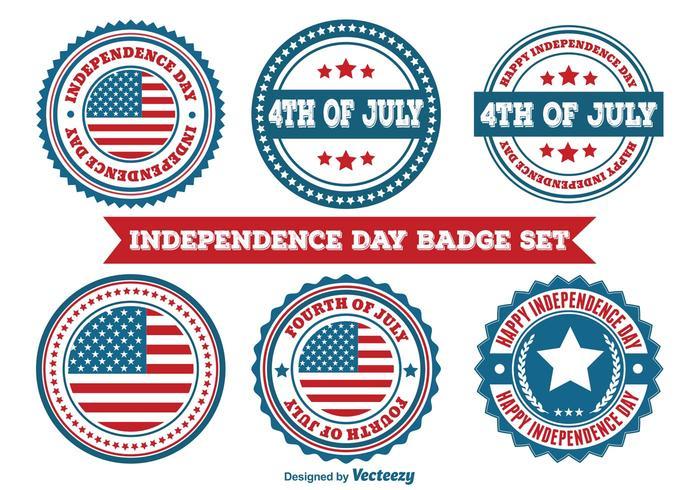 Badges de la Fête de l'Indépendance vecteur
