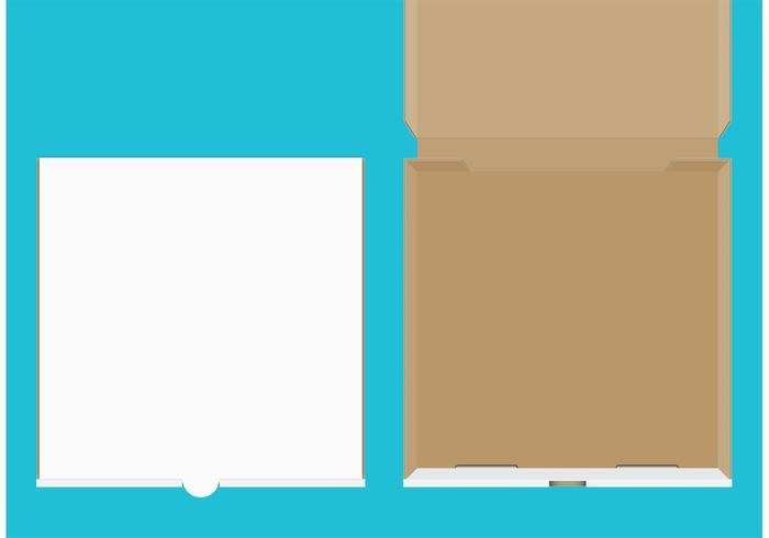 Vecteurs de boîtes à pizza vecteur