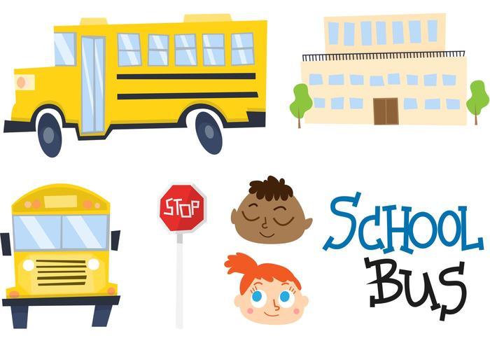 Autobus scolaire Cartoon vecteur