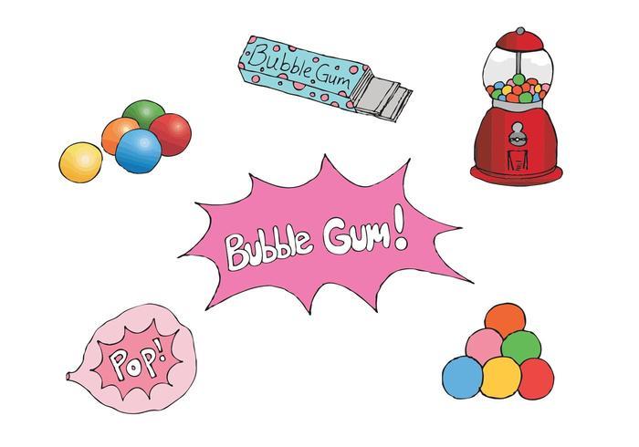 Série gratuite de vecteurs Bubblegum vecteur