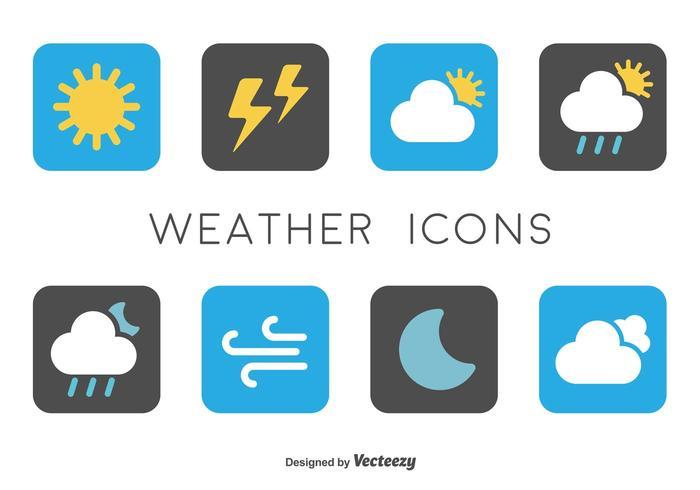 Icônes météorologiques minimales vecteur