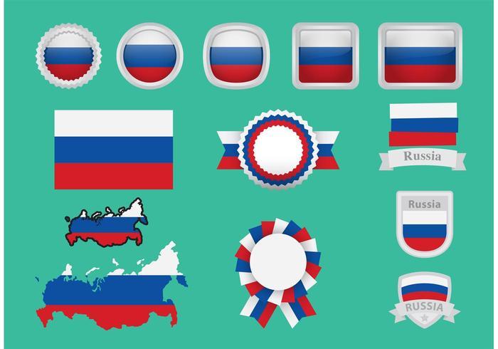 Vecteurs de badge de la Russie vecteur