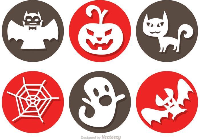 Icônes de vecteur d'Halloween