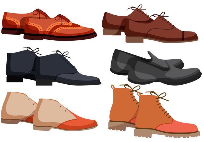 Vecteurs de chaussures pour hommes vecteur