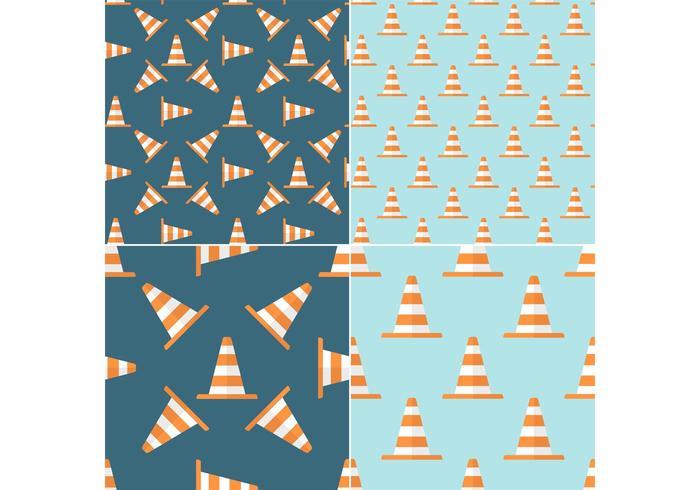 Free Seamless Patterns sans vecteur Orange Traffic Cone