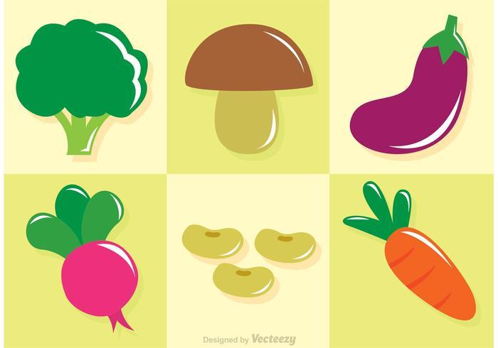Vecteurs de légumes frais et brillants vecteur