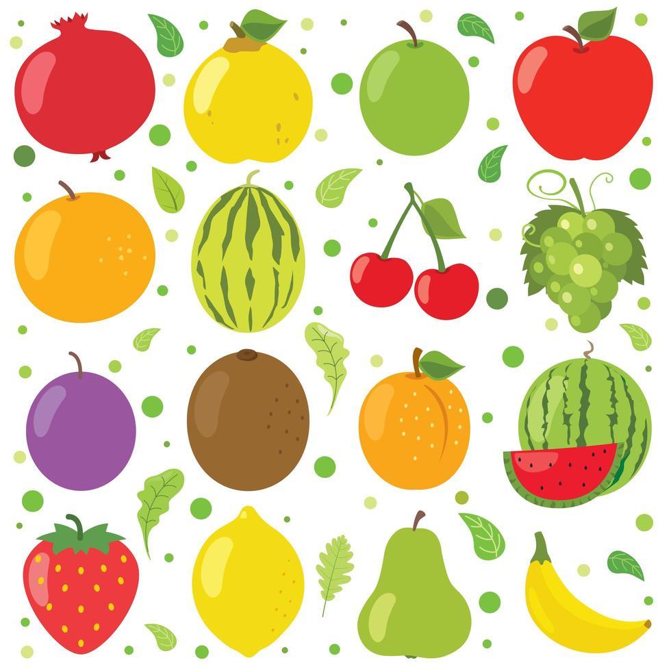 fruits frais pour une alimentation saine vecteur