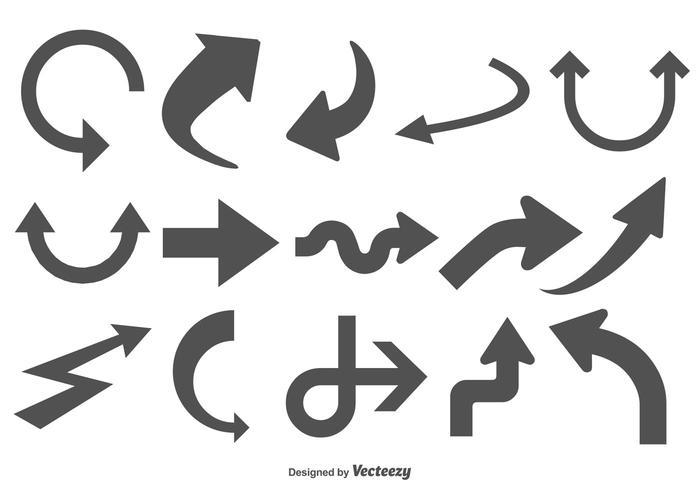 Formes de flèches variées vecteur