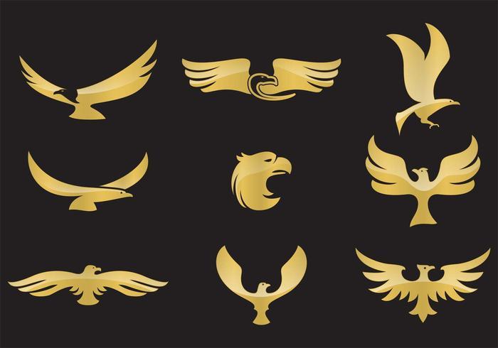 Vecteurs d'aigle doré vecteur