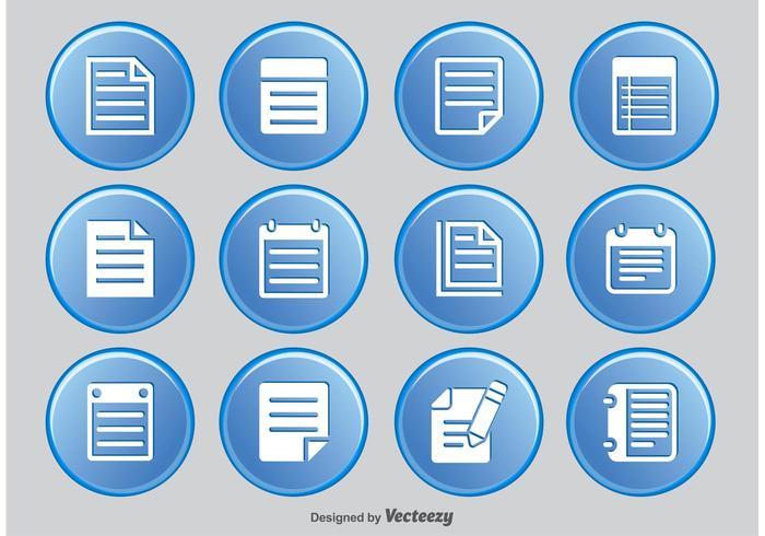 Ensemble d'icônes de note vecteur