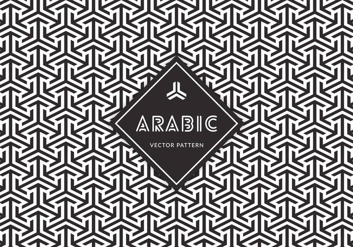 Patron vectoriel sans fil arabe gratuit