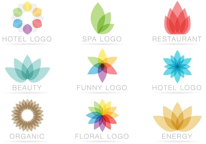 Des vecteurs de logo transparents vecteur