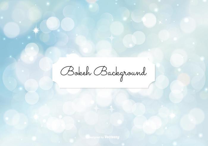 Beautiful Blue Bokeh Style de fond vecteur