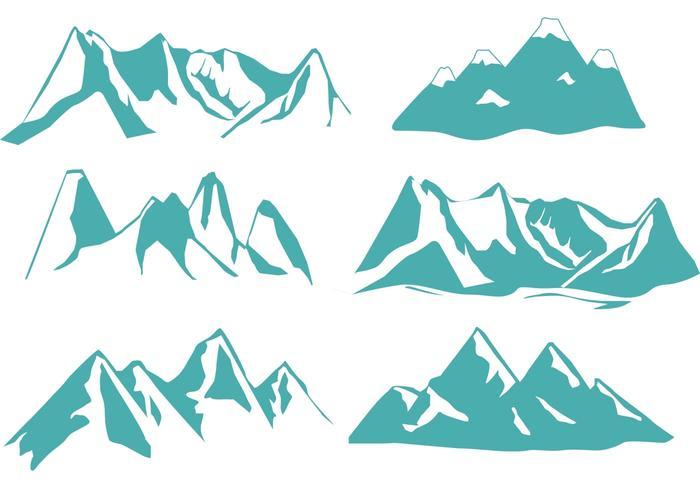 Vecteurs de montagne de Denver vecteur