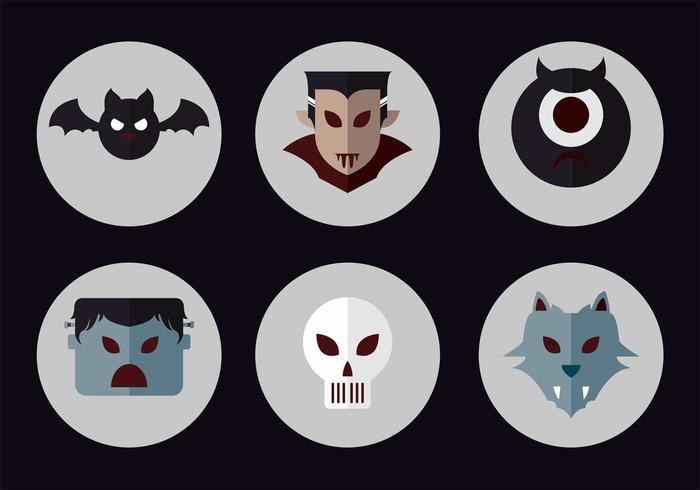 Ensemble d'icônes vectorielles Dracula vecteur