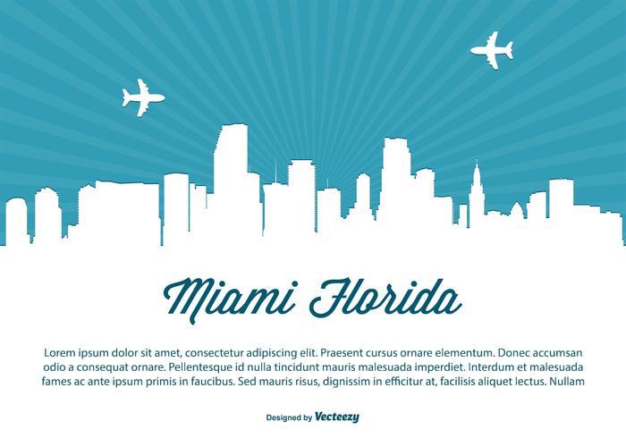 Miami Skyline Illustration vecteur