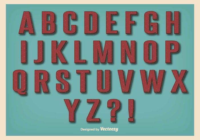 Ensemble Alphabet Retro Vintage Style vecteur