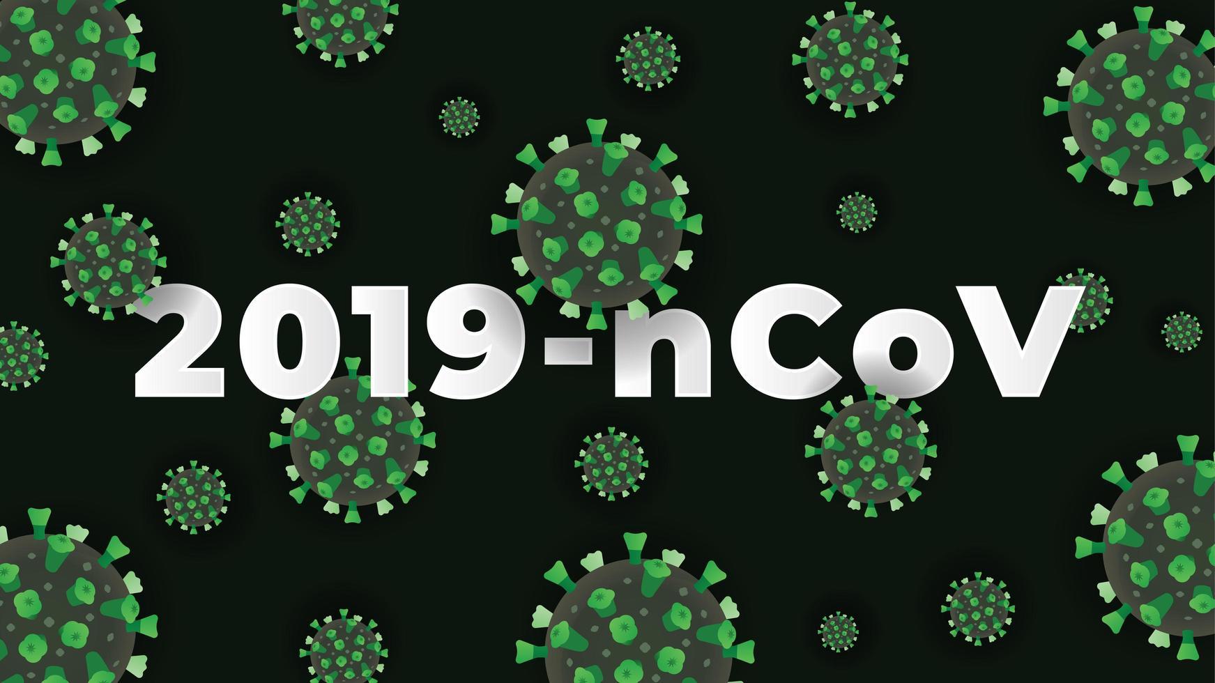 fond de coronavirus vert vecteur