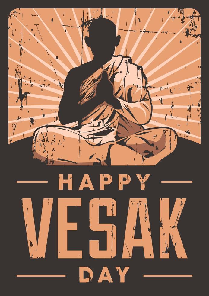 affiche de la journée vesak vecteur